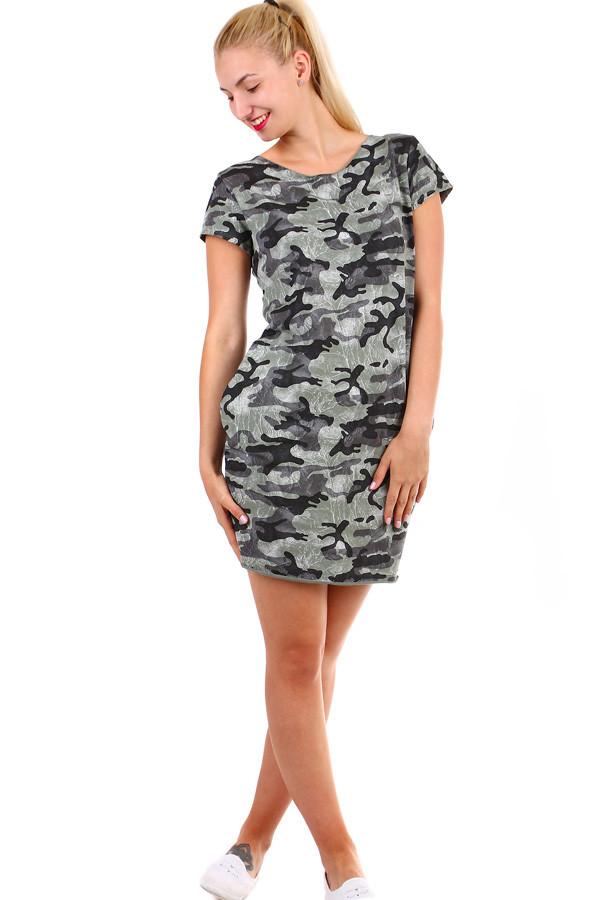 16dbe8848c01 Krátké dámské šaty s army vzorem