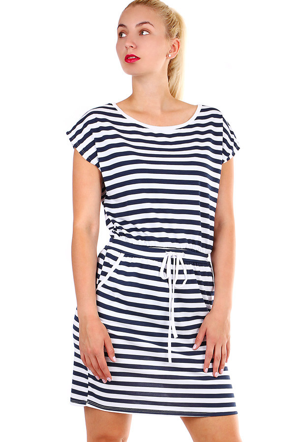 3dc516b0b6a Bavlněné dámské krátké pruhované šaty