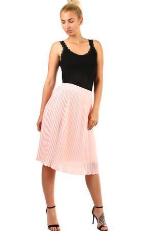 502ab66ff935 Dámská plisovaná skládaná midi sukně v pase pružná