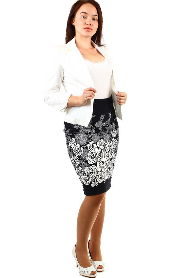 90b15b30af89 Dámská pouzdrová retro midi sukně s květinovým potiskem