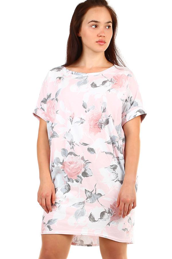 Volné květované letní šaty pro plnoštíhlé  610e850c28