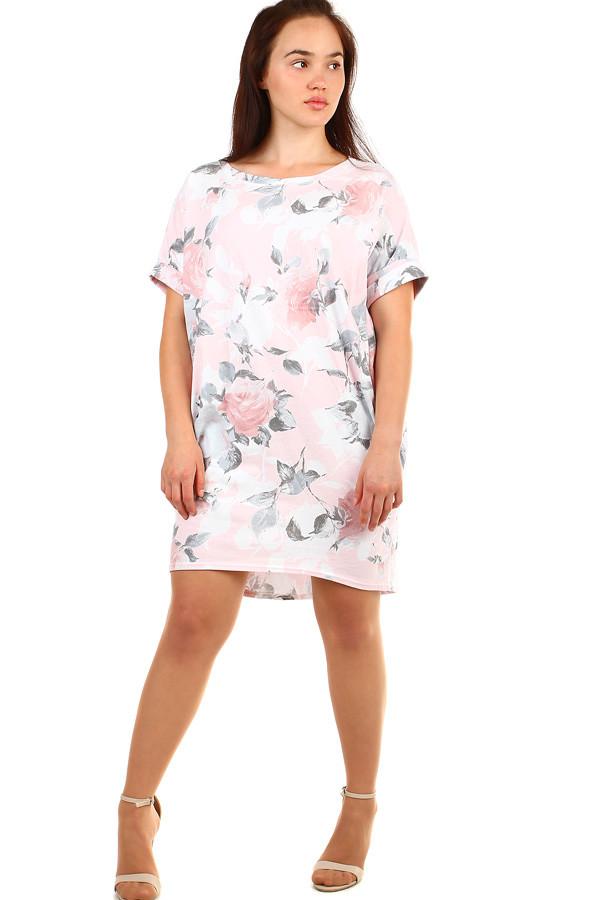 Volné květované letní šaty pro plnoštíhlé  146bd06d69