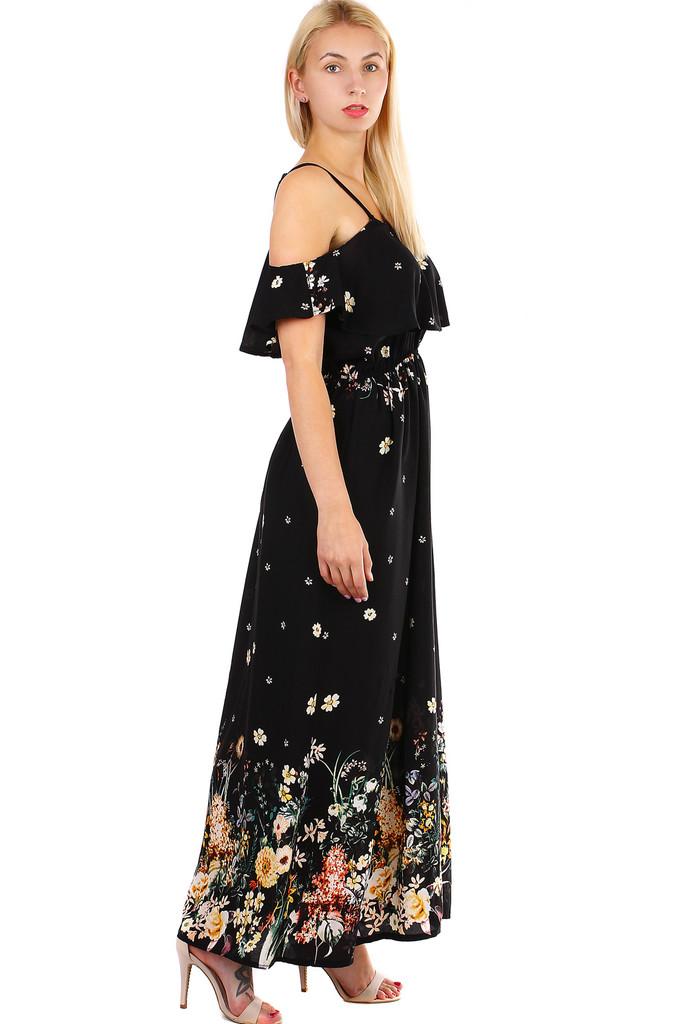 Dámské dlouhé áčkové letní šaty s úzkými ramínky  4e26a43cd2