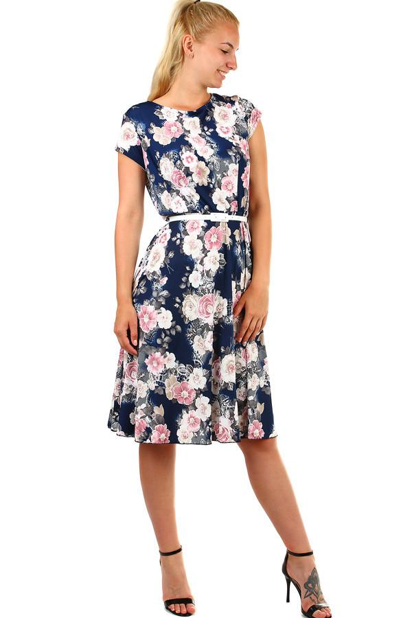Dámské letní retro šaty s květinami  c455c30b12