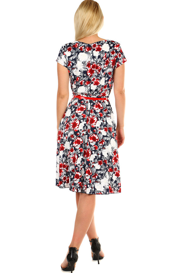 Dámské květované retro šaty midi délka  d2b083b5f9