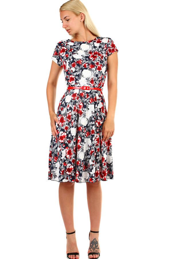 c8f9d40caddb Dámské květované retro šaty midi délka
