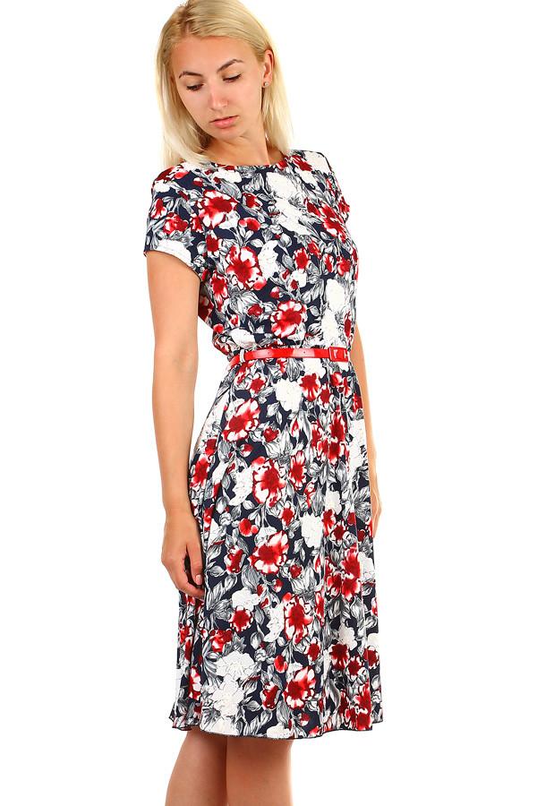84f5f8b2635 Dámské květované retro šaty midi délka