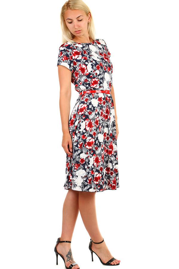ffb20fc6963c Dámské květované retro šaty midi délka