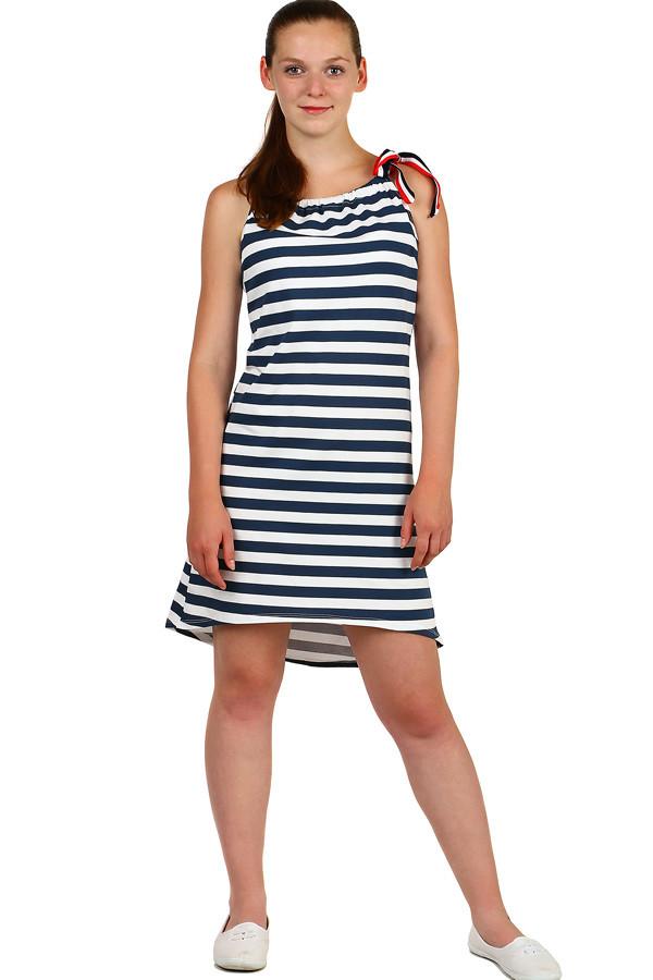 Dámské pruhované midi šaty  57f99b6cb5