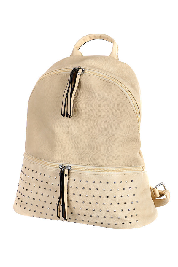 Dámský koženkový městský batoh s ozdobnými cvočky  42f525d922