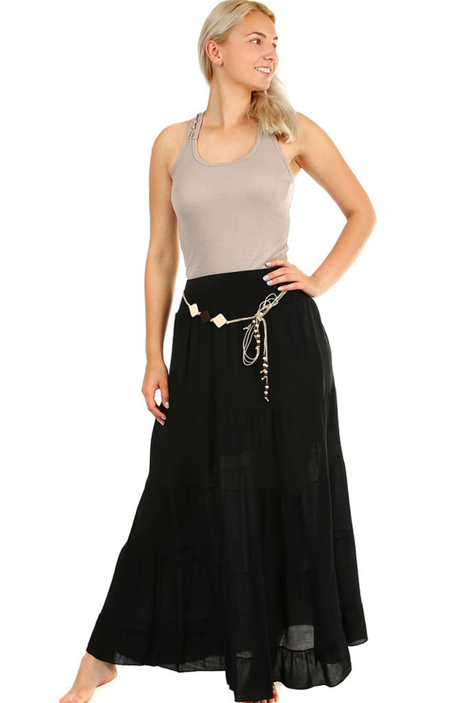 1312273e323 Dlouhá dámská maxi sukně s elegantním páskem