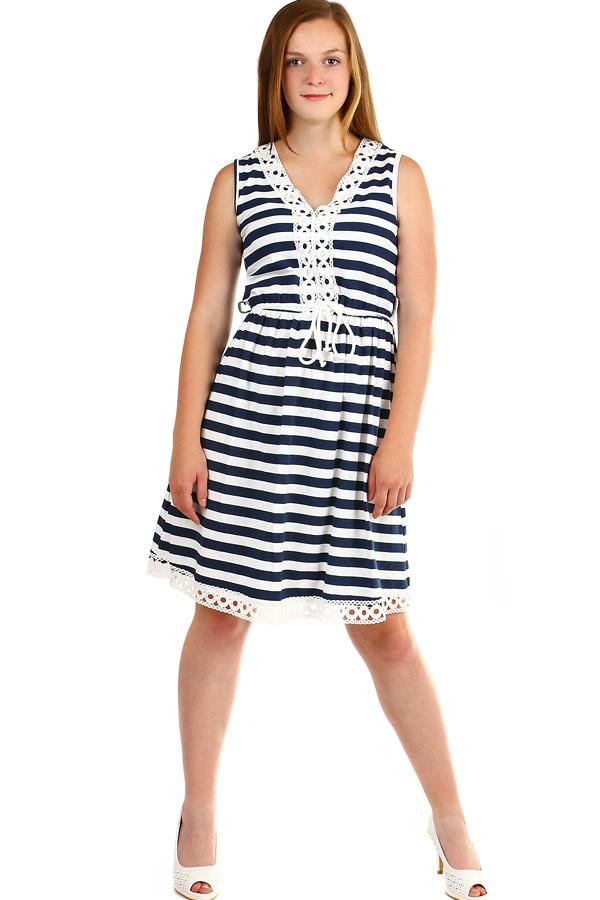 52ebc2633c6 Dámské letní pruhované šaty šaty