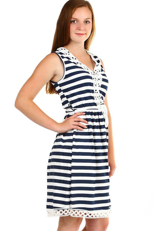 1af3aba63b2 Dámské letní pruhované šaty šaty