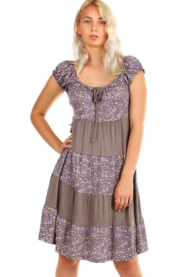 9a4e4836c01 Dámské letní plážové šaty s květinovým vzorem