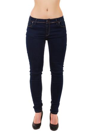 247c34817d0 Dámské džíny s krajkovou aplikací