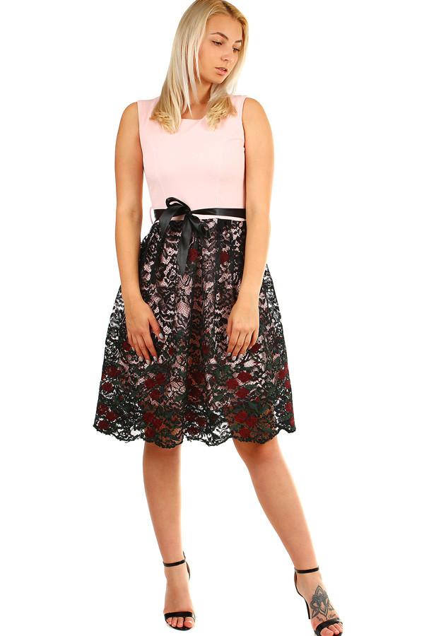 ec4a8bafc62 Dámské společenské šaty s krajkovou sukní