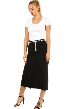 1137249c9a9c Dámská dlouhá sukně s provazovým páskem