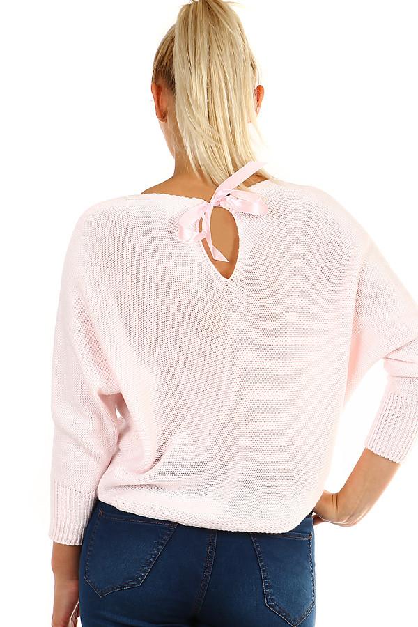 Dámský krátký pletený svetr s netopýřími rukávy  3fce326b52