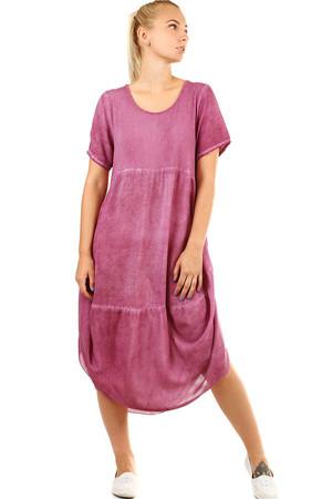 Levné dámské dlouhé fialové letní šaty xs  95425ee8bf