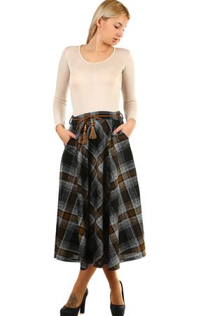 648ebbb204b2 Kostkovaná dlouhá zimní sukně