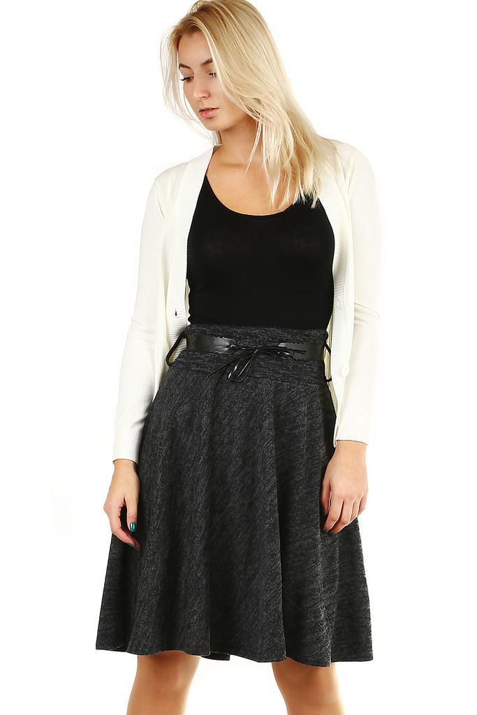 289362ef2b06 Zimní áčková sukně žíhaný vzor