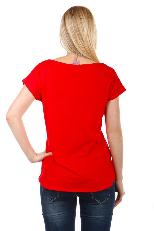 Dámské elegantní tričko s krátkým rukávem a s kočkou  79130cd83e