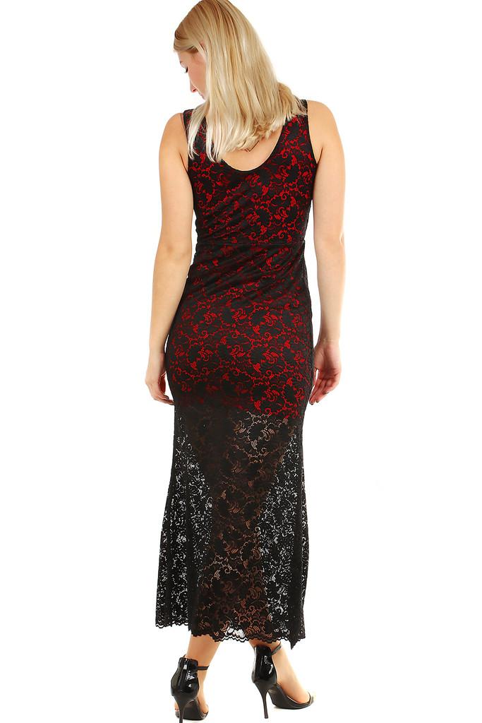 Plesové šaty s výraznou krajkou  2f5d702f1e