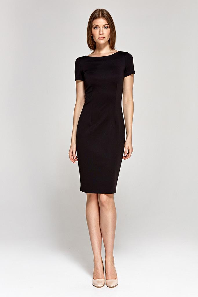 Přiléhavé pouzdrové šaty ke kolenům  af621afc996