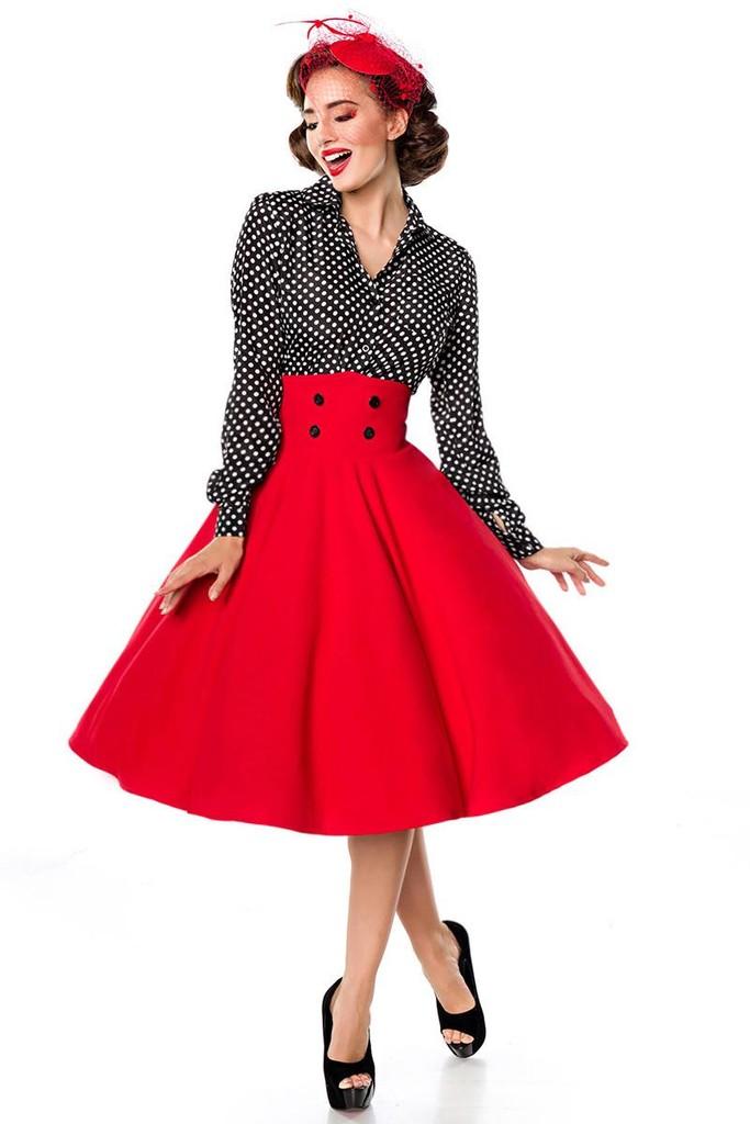 Retro sukně s vysokým pasem  9d58686d80