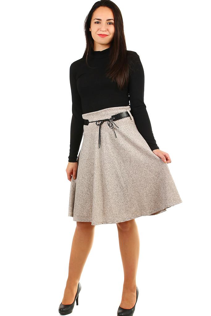 f72e5fc7ad41 Zimní áčková sukně žíhaný vzor