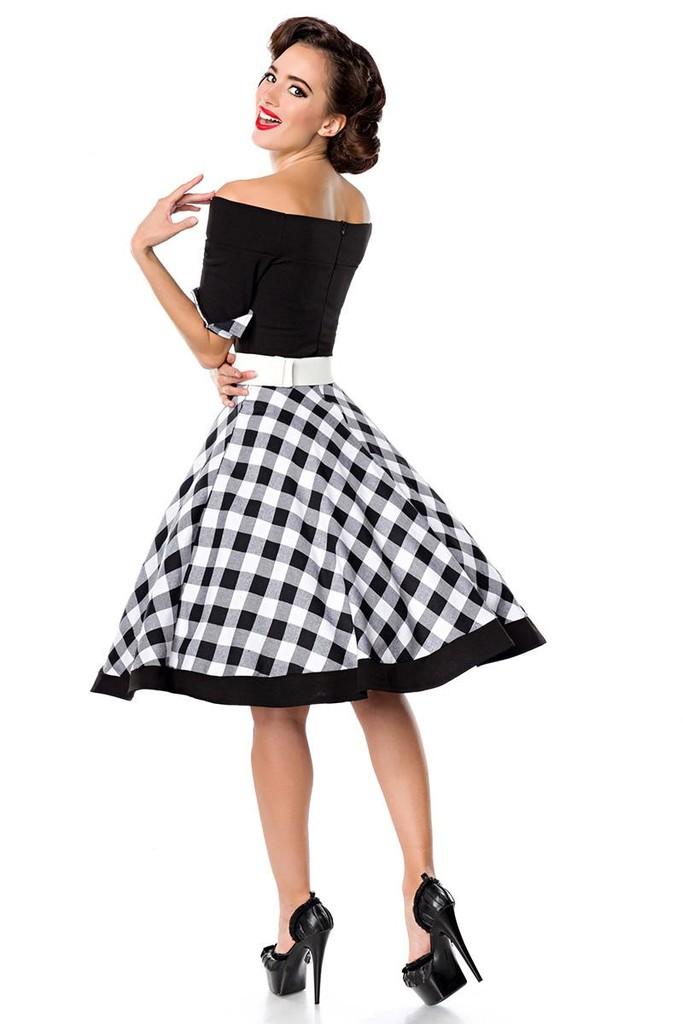 8eb43dfd1f0e Retro šaty s kostkovanou sukní