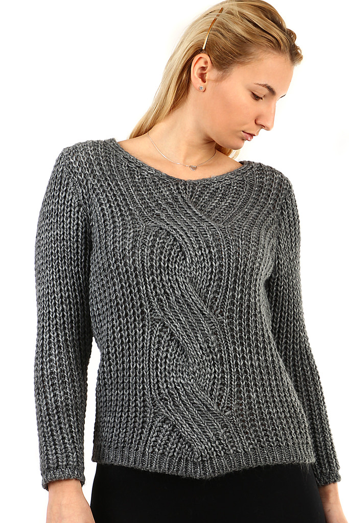 Krátký pletený svetr  c4a9e7c57b