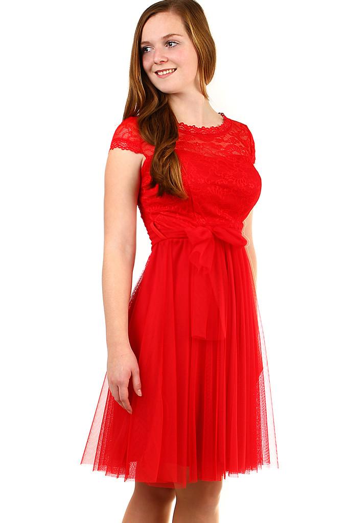 6e3f5ab885c Plesové šaty s krajkou