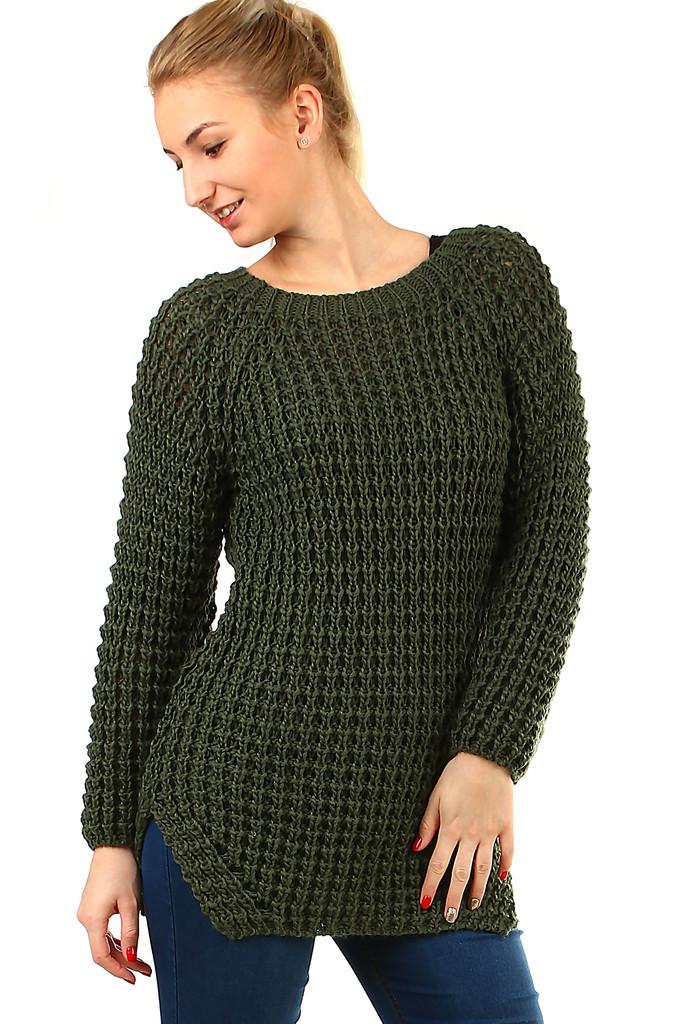 Dlouhý pletený svetr  0ac9149fd8