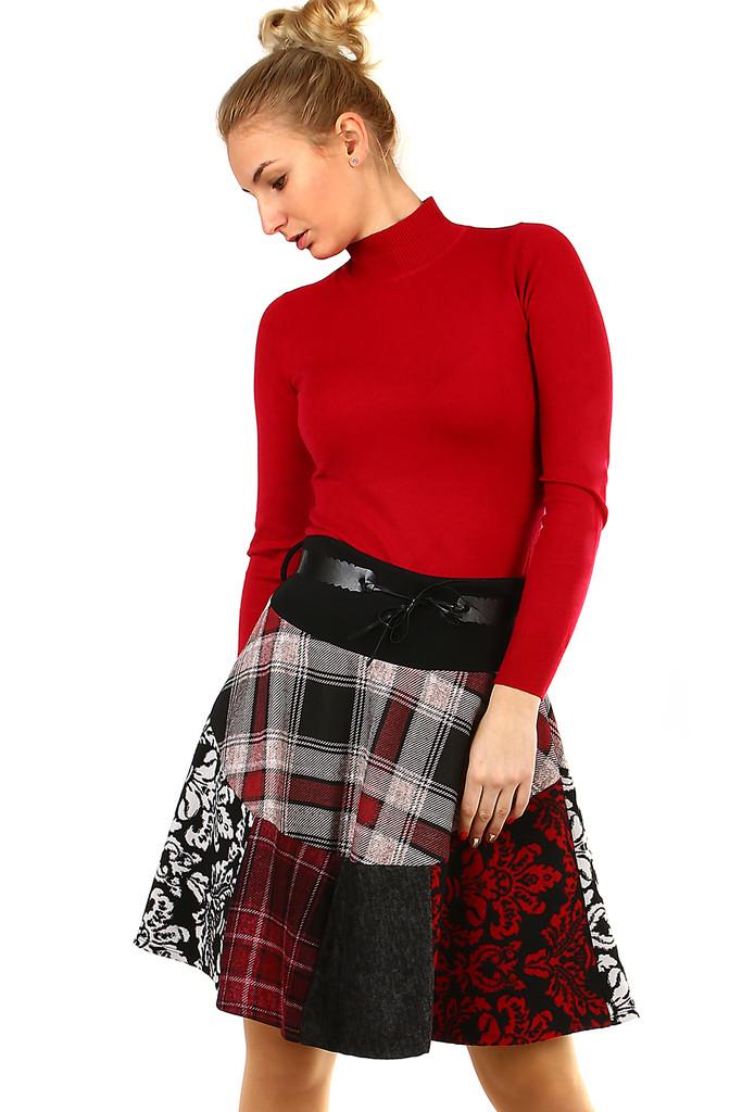 68b99c611bac Áčková zimní károvaná sukně