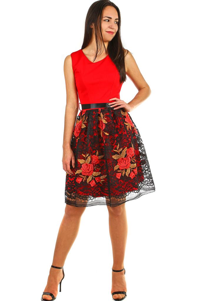 796347f459ca Společenské dámské šaty s krajkovou sukní
