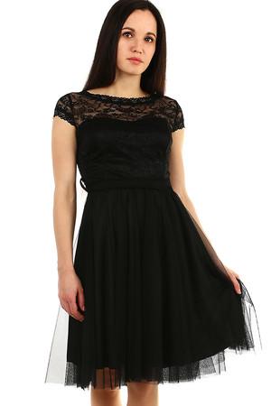 da0c6934f5e Krátké černé plesové společenské šaty l novinky