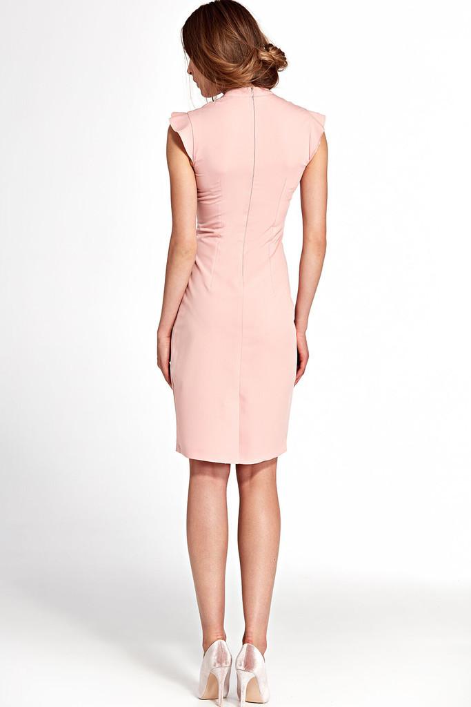 Společenské šaty s volánovými rukávy  2ea8b3a627