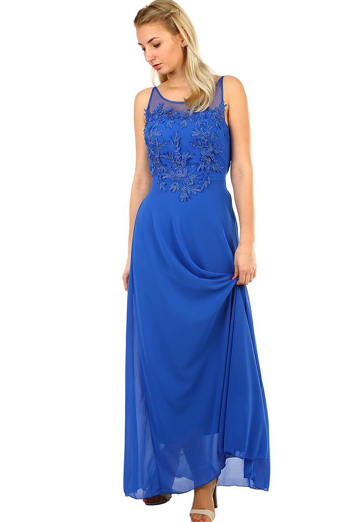 Dlouhé společenské šaty na ples  0142cca048