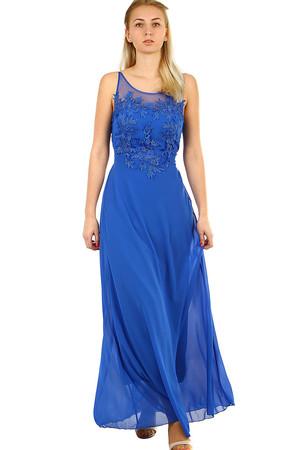 Dlouhé společenské šaty na ples 83d43d8713
