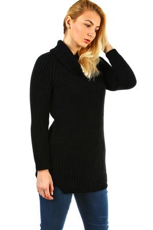 Luxusní černé svetry a ponča  ac9dffe948