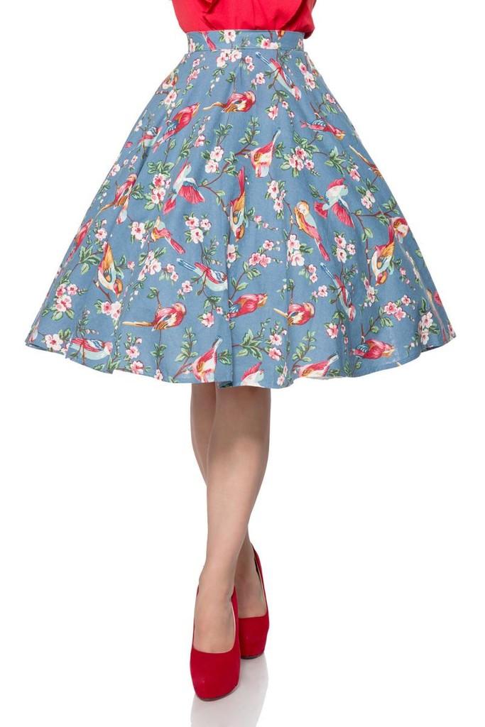 Dámská letní květinová sukně  77cd17c9f6