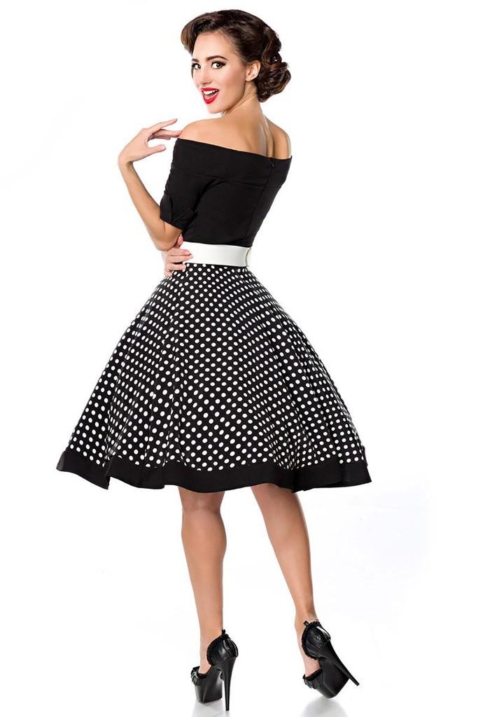 4176286157f6 Retro šaty s puntíky