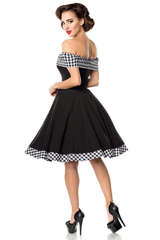 1ca5b9664d77 Pin up dámské šaty s odhalenými rameny