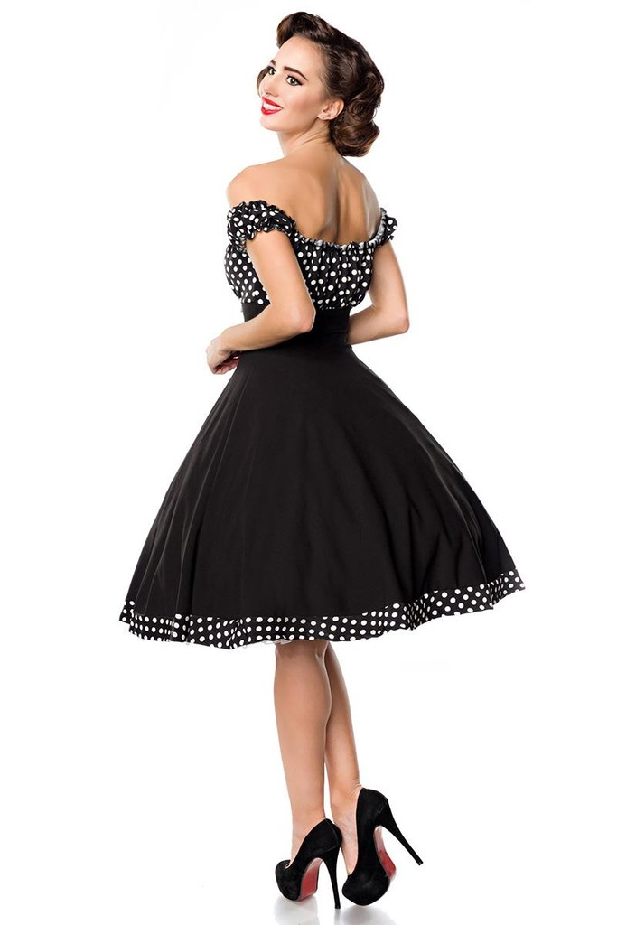 f5c18cd80 Vintage dámské šaty s Carmen výstřihem | Glara.cz
