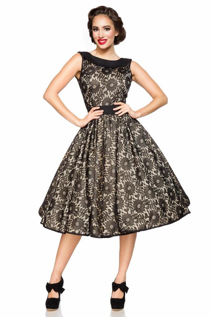 Retro dámské šaty s krajkou  78759bbfb6