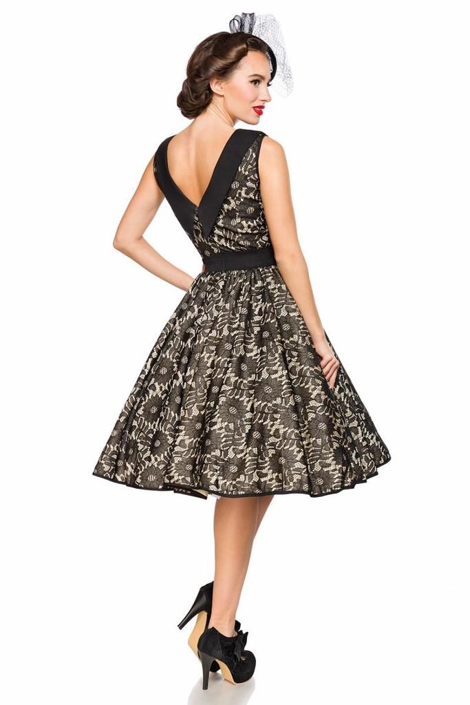 cb9a04467eb Retro dámské šaty s krajkou