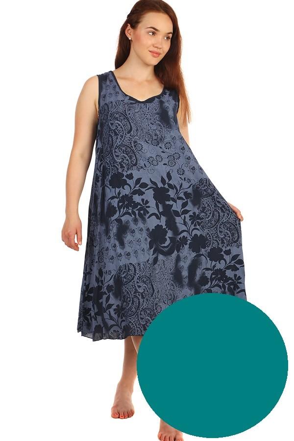 Dlouhé letní květinové šaty  f7385eabd1b