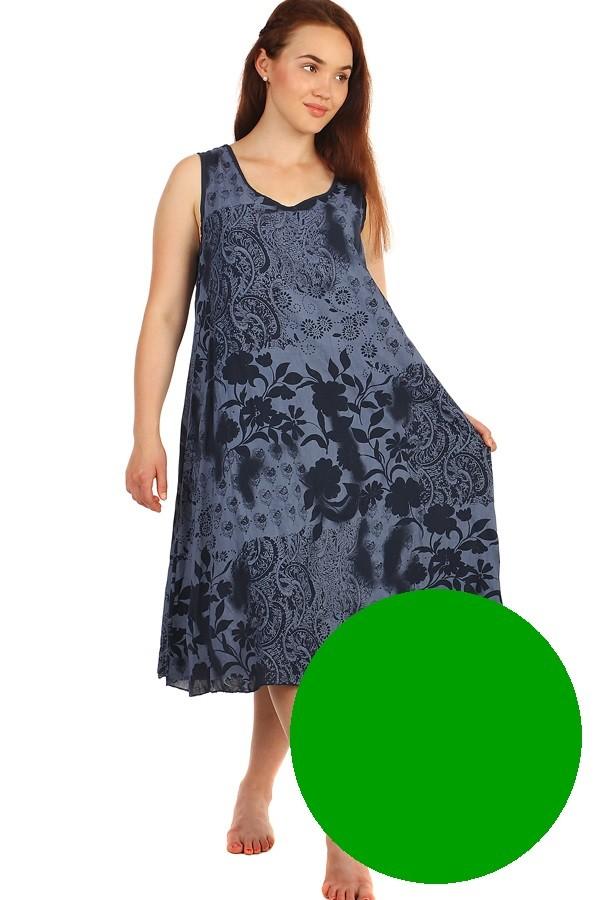 Dlouhé letní květinové šaty  034eb89315