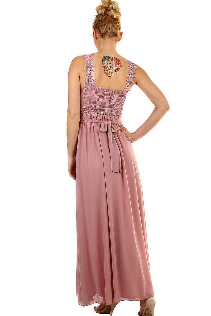4122902ca572 Plesové dlouhé šaty s výšivkou a korálky